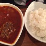 60489672 - 赤スープのハンバーグ 1050円