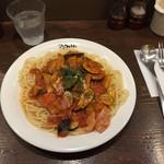アンクルトム - ナスとベーコンのトマトソーススパ1,295円