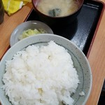 燕楽 - +100円でご飯大盛