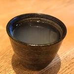 60495840 - そば焼酎 八重桜(そば湯割り)