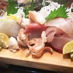 かわなみ鮨 - 縞鯵、ほっき貝、するめいか