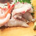 かわなみ鮨 - 真鯛、甘エビ