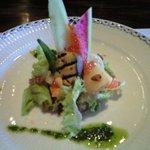 605813 - 前菜の刺身サラダですね