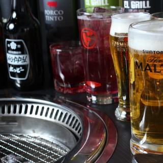 生ビールもある単品飲み放題もやってます!