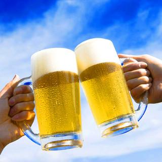 大変お得な飲み放題は、生ビール込で¥980~ご提供!