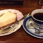 蒼紫 - ブルーマウンテン、チーズケーキ