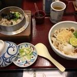 60503781 - かき釜めしうどん定食/うどん普通盛(税込1053円/50円)