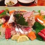 魚河岸 番屋 - 刺身盛り4人分(^^)