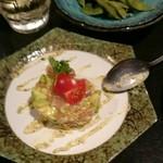 木村屋本店 - 料理名 忘れた。鳥ササミとアボガドの なんちゃら。