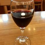 ポポラマーマ  - 「グラスワイン」(90ml、200円)。これもHalf Portionか?
