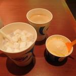 ブルーシールアイスクリーム - 料理写真:マシュマロ紅イモミルク+バニラ+コーヒー