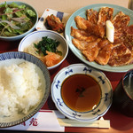 美福苑 - 豚肉盛合せ焼セット1,133円