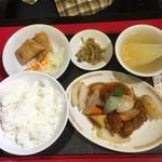 上海楼 - 酢豚セット