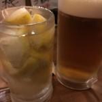 piccolo MODENA - 生レモンサワー、メガジョッキビール
