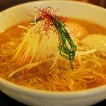 麺屋海神 - あら炊き辛塩らぁめん(ちょい辛)