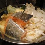 6052708 - 鮭のちゃんちゃん鍋(雑炊セットで\1280)