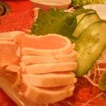 鬼亭 - 鶏肉の刺身
