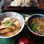 蕎麦 木曽路 - カツ丼(ミニ?)とかけそば