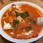太陽のトマト麺  - エビクリームトマト麺♪