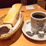 コメダ珈琲店 - ブレンドコーヒー(420円)+モーニングC「おぐらあん」