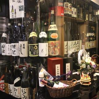全国から取寄せた日本酒・焼酎