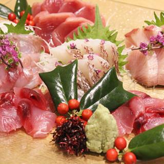 新鮮な魚を使用したこだわりの料理