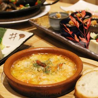 本格的な和食とスペイン料理を楽しめる