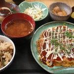 お好み焼 たち花 - お好み定食\500-