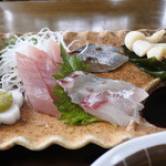 田園 - 料理写真:4種刺身