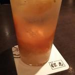 60544243 - (2016年12月 訪問)福岡産金柑のカクテル。生姜も入っており甘みの中にキリリ感が加わった味わい。