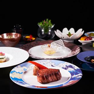 最高級の素材で創り出す、洋と和を融合させた新しい料理