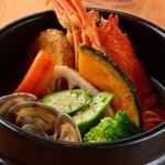 愛犬の駅 - 海に幸の熱々石鍋スープカレー
