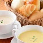 愛犬の駅 - 本日の焼き立てパン&本日のスープ