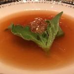 中国料理 翠陽 - 吉切鮫のふかひれスープ 醤油風味に仕上げて