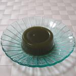 伊藤久右衛門 - 茶蕨の抹茶蜜と抹茶きなこをかける前