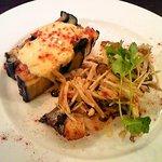 rana - メインはサワラの白ワインソース&茄子とひき肉のチーズ焼き