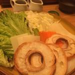 しゃぶしゃぶ すき鍋 おもき - 「松阪豚会席 匠」コース/お鍋 松阪豚のたれしゃぶ おもき銀座