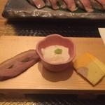しゃぶしゃぶ すき鍋 おもき - 「松阪豚会席 匠」コース/前菜 おもき銀座