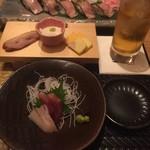 しゃぶしゃぶ すき鍋 おもき - 「松阪豚会席 匠」コース/前菜・お造り おもき銀座