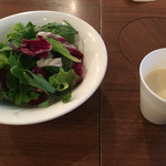 60550393 - ランチセットのサラダ&スープ