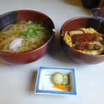 とばた麺之介 - 「カツミニ丼セット」680円(2016.9)