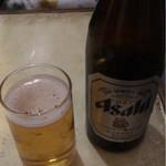 いかちゃん - 瓶ビール アサヒスーパードライ