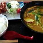 60553965 - 「カレー中華&から揚げセット」900円