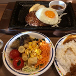 ステーキガスト - 料理写真:目玉焼きハンバーグ(サラダバー付き) ¥899