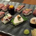60557015 - 肉寿司11種類、12貫☆
