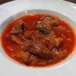 HAYASHIYA - コラーゲンたっぷり牛スジ肉とキャベツのトマトスープ