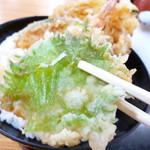 あげたて - 天丼(大葉の天ぷら)