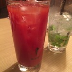 居酒屋鳥のぶ - 焼酎濃いめの素晴らしきトマト割り!