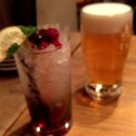 センバキッチン - クランベリーモヒート&生ビール