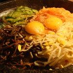 韓国家庭料理 天 - 石焼きビビンバ